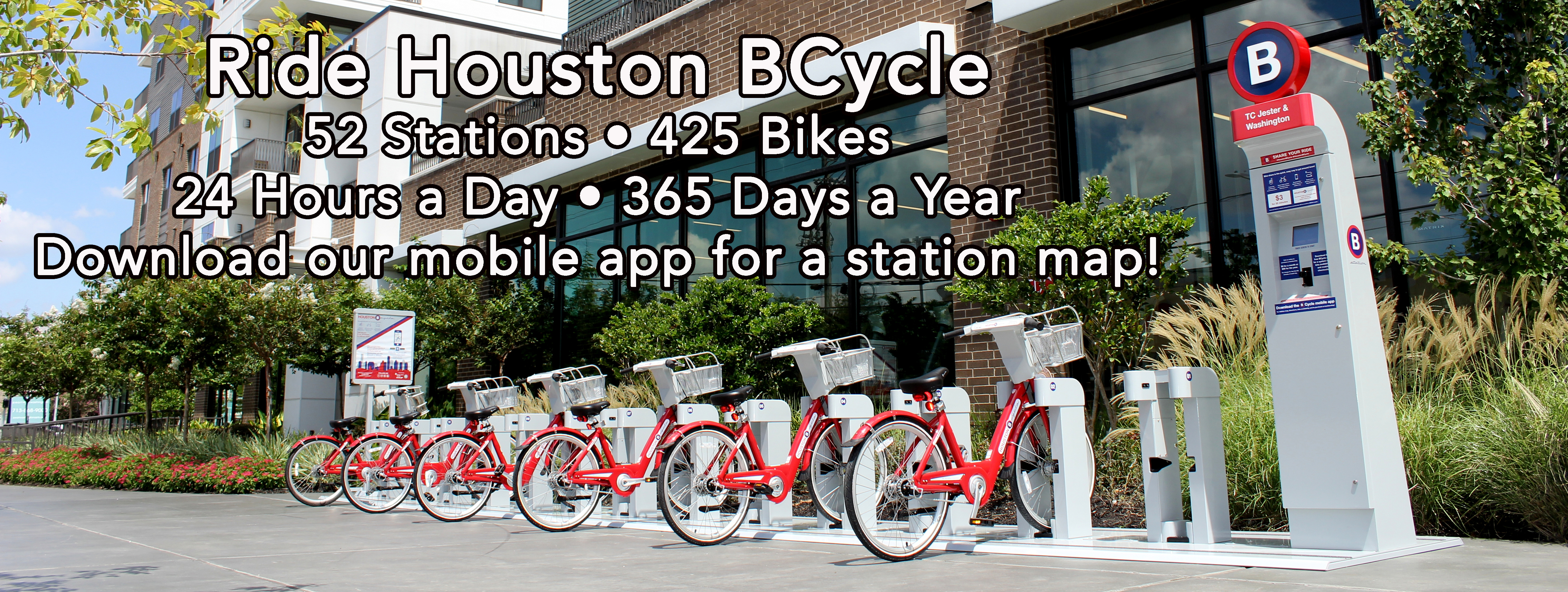 Houston BCycle 52 Stations 425 Bikes