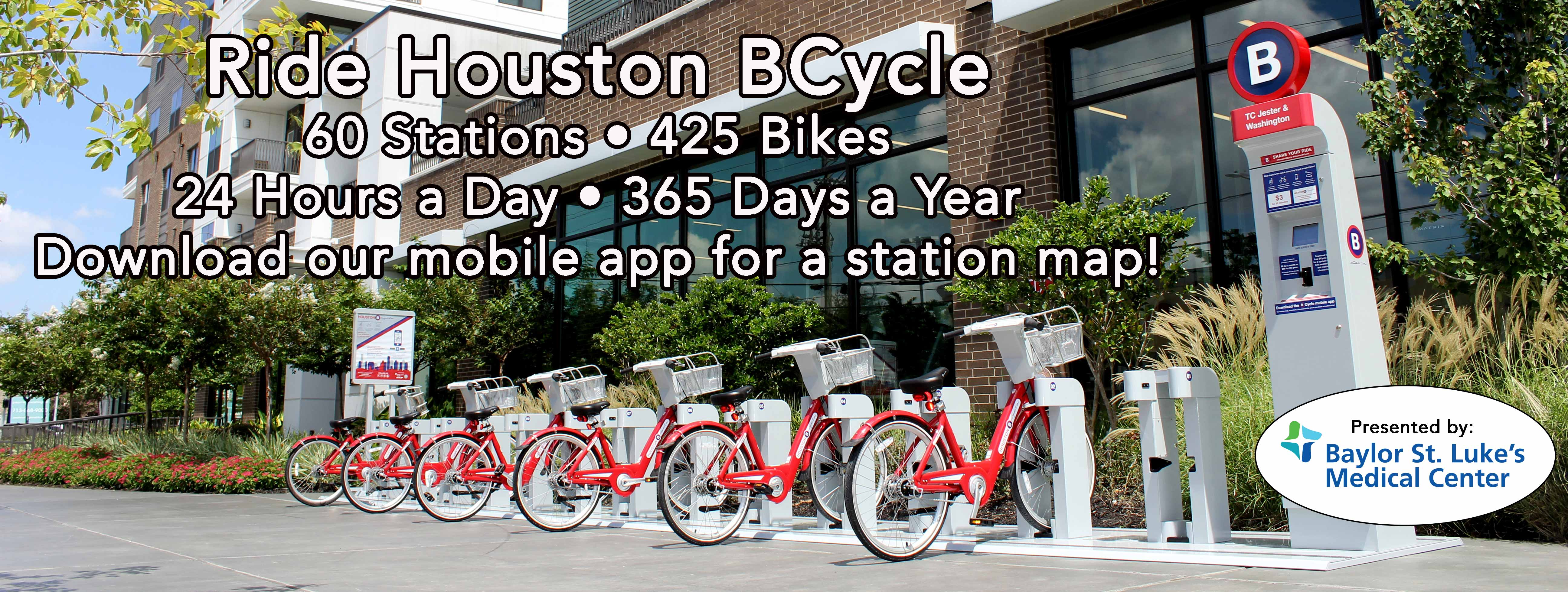Houston BCycle is a bike share program